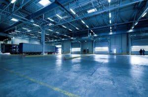 Une usine éclairée par des LED